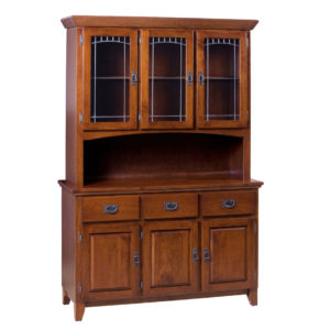Mission 3 Door Buffet and Hutch, Dining room, dining room furniture, occasional, occasional furniture, solid wood, solid oak, solid maple, custom, custom furniture, storage, storage ideas, dining cabinet, sideboard, hutch
