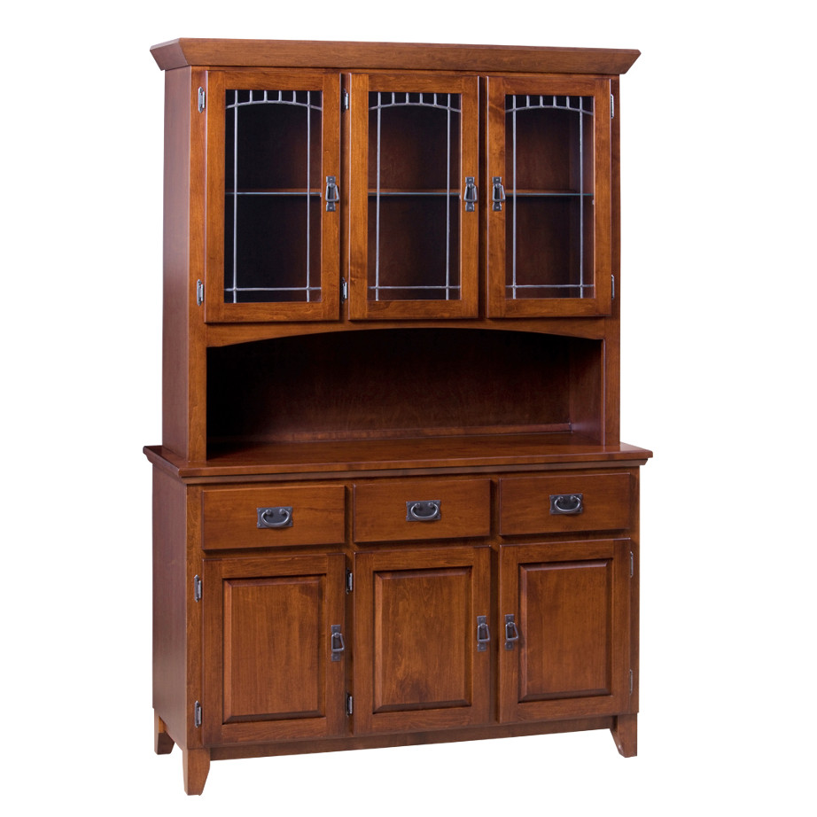 Home Envy Furnishings Solid: Mission 3 Door Buffet And Hutch