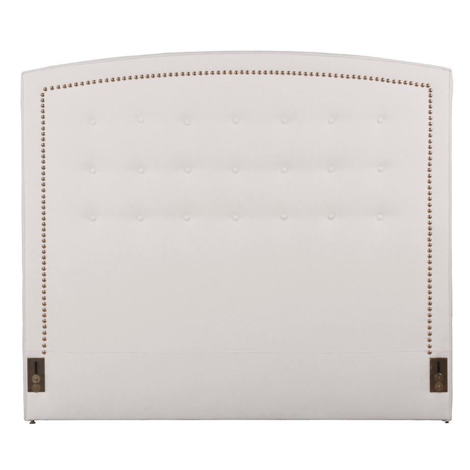 custom made in canada monacco upholstered headboard with camel top in custom fabric