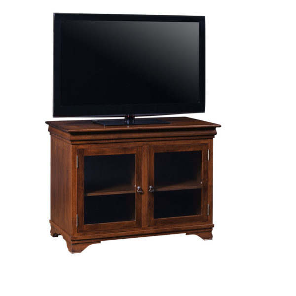 morgan small conodo size tv console with glass doors