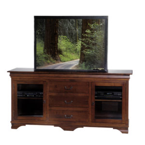 classic ellegance morgan tv console in solid wood