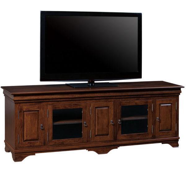 traditional elegant morgan solid wood tv console