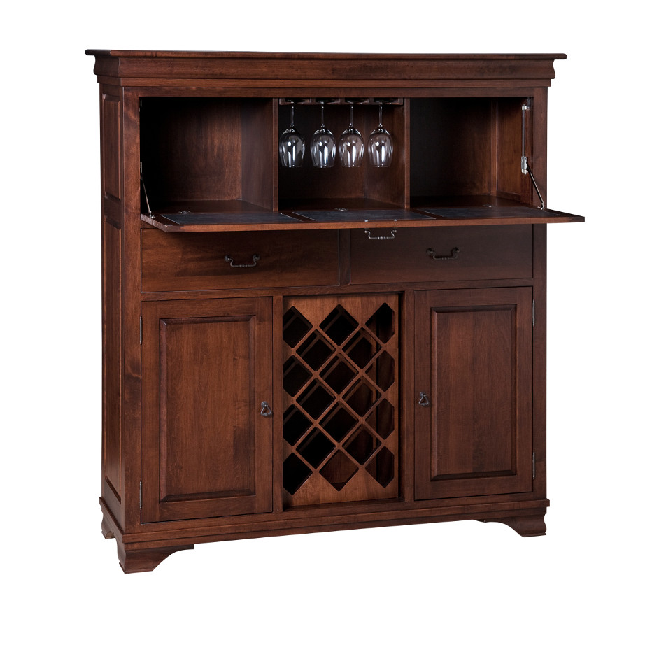 Morgan bar cabinet home envy furnishings solid wood - Bar cabinets for home ...