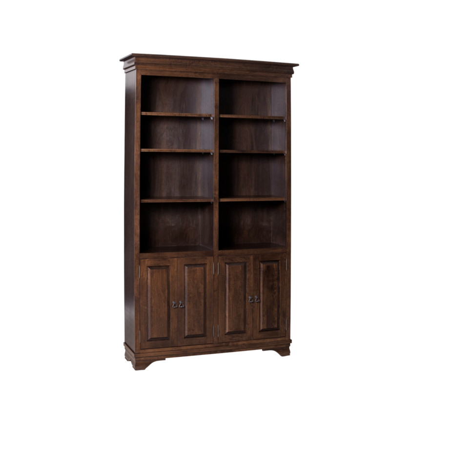Morgan Bookcase, Solid wood, maple, oak, organize, organization, organizer, custom, furniture, custom furniture, solid maple, solid oak, office, home office, office furniture, storage, storage ideas, shelf, shelving, bookshelf, bookcase, display, library, home library