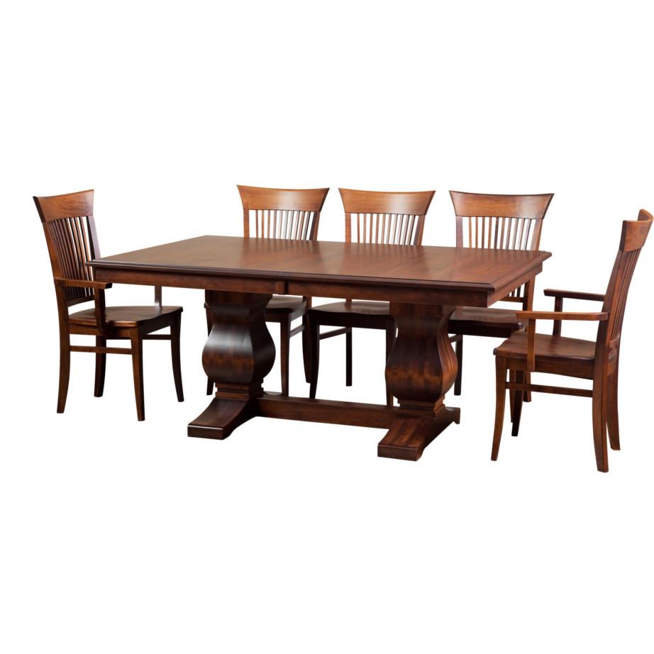 Morgan Trestle Table Home Envy Furnishings Solid Wood
