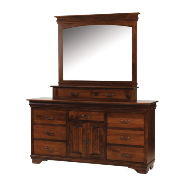 crafted in canada morgan dresser with storage mirror attached