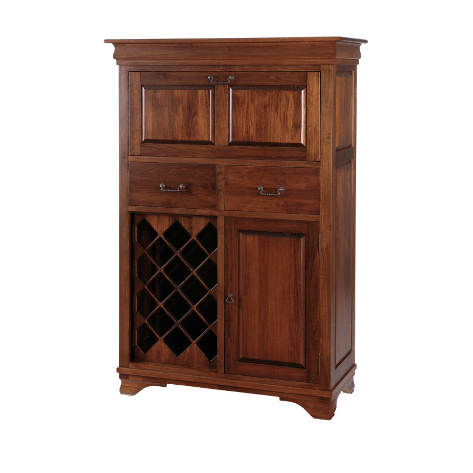 Morgan small bar cabinet home envy furnishings solid for Custom wood cabinets