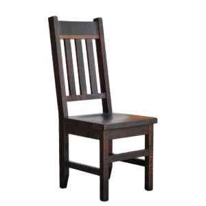 solid wood dining chair, canadian made dining chair, ruff sawn dining chair, muskoka chair