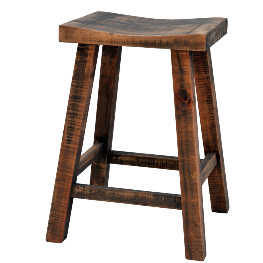 Round Wood Counter Stools