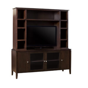 Newport 73 wall unit, wall unit, wall unit with storage TV unit, solid wood , made in canada, choose your wood, solid wood furniture, display wall unit