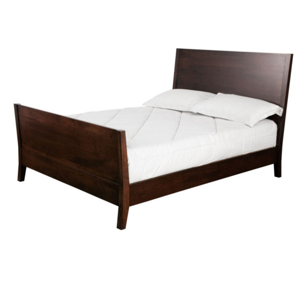 solid wood newport bed with tall footboard