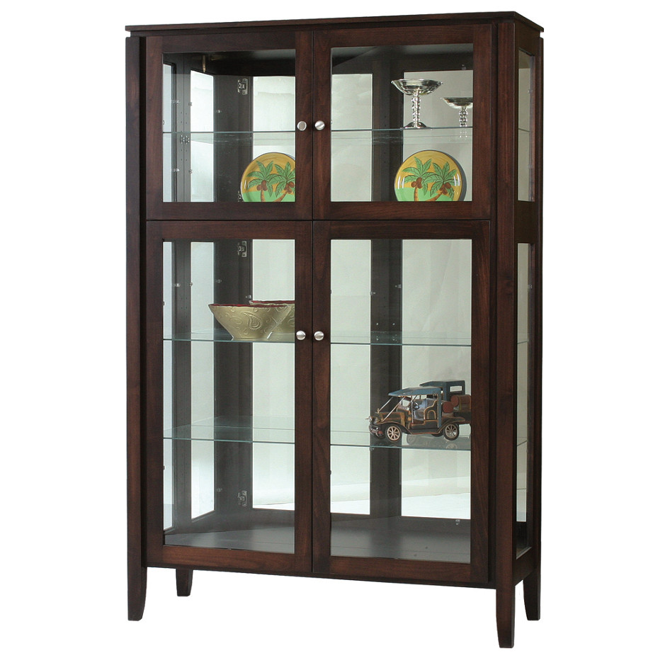 Newport Curio Cabinet Home Envy Furnishings Solid Wood