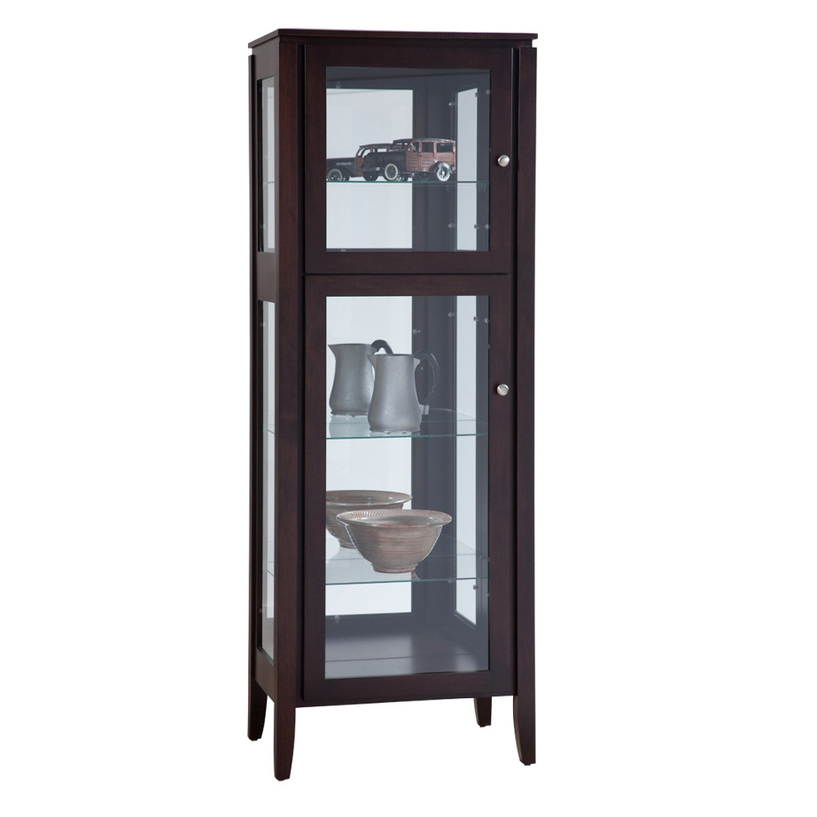 Newport Single Door Curio Cabinet Dining Room Furniture Occasional
