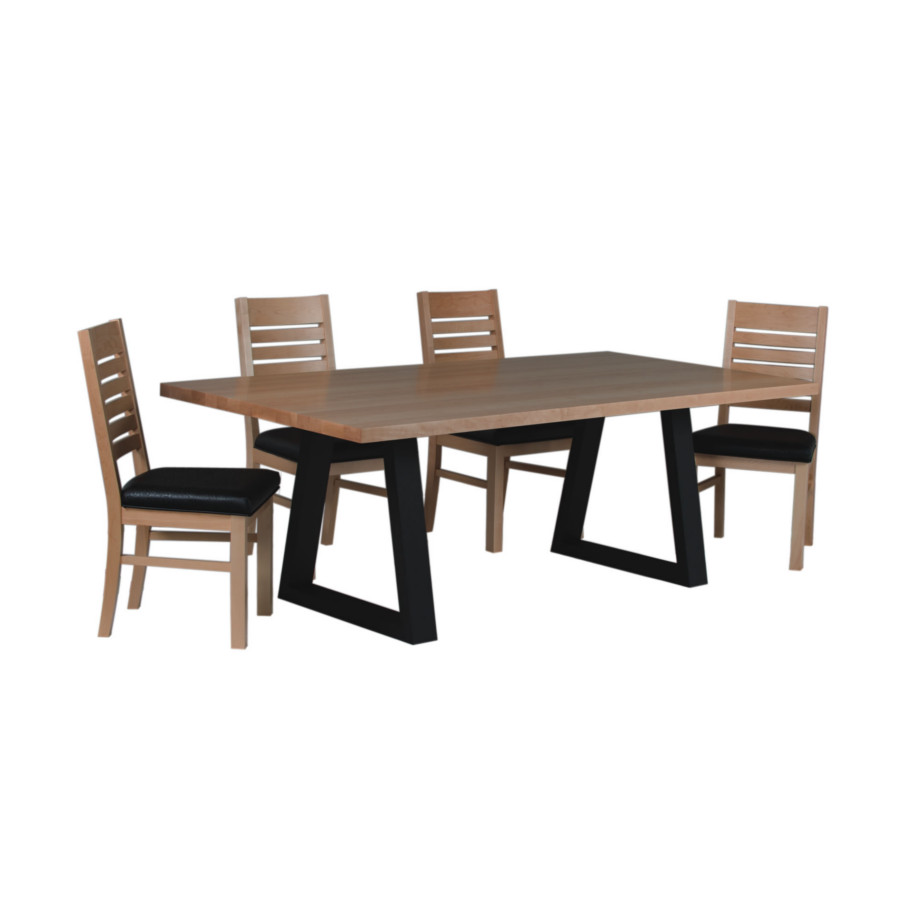 Oydssey Trestle Table Home Envy Furnishings Solid Wood