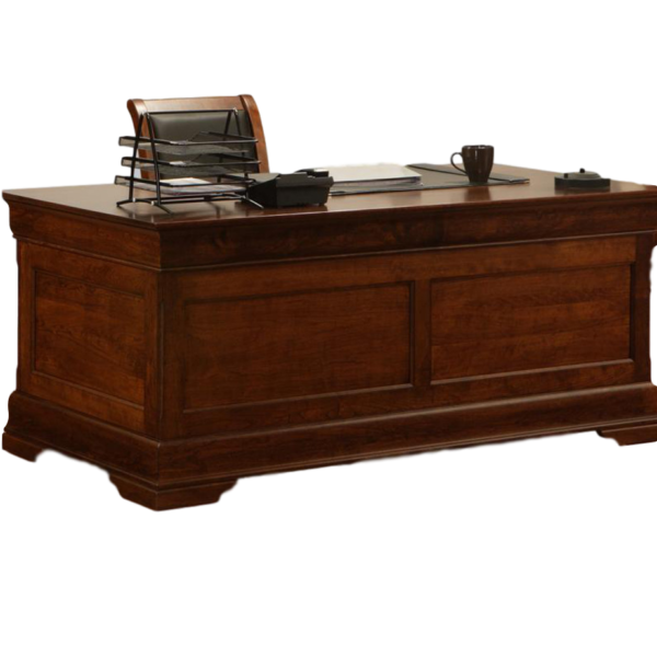 Home Office, Desks, cherry, computer, distressed, made in canada, maple, oak, rustic, solid wood, workstation, office ideas, classic, storage ideas, hand stone, Executive Desk, Phillipe Executive Desk, traditional,