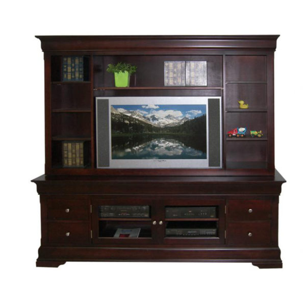 solid wood made in canada phillipe traditional wall unit