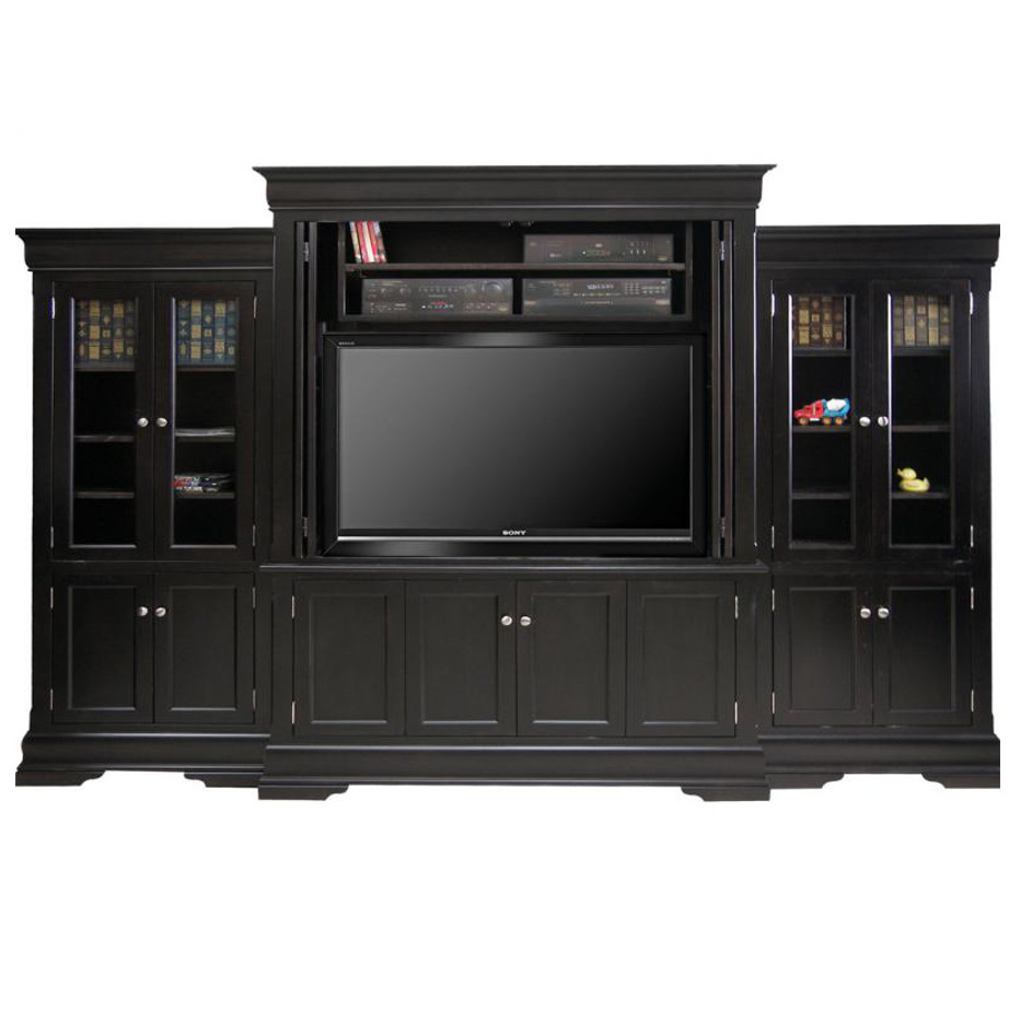 Phillipe Wall Unit With Folding Doors Home Envy
