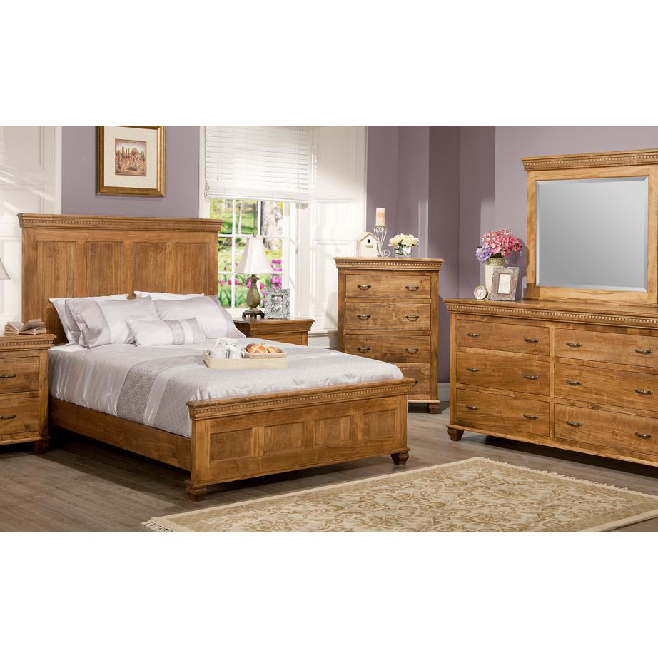 Provence Bedroom A, Beds, cherry, distressed, made in canada, maple, master bedroom, oak, rustic, solid wood, classic, simple, unique, contemporary, bedroom ideas, other sizes, hand stone, Provence Bedroom, Provence Bedroom