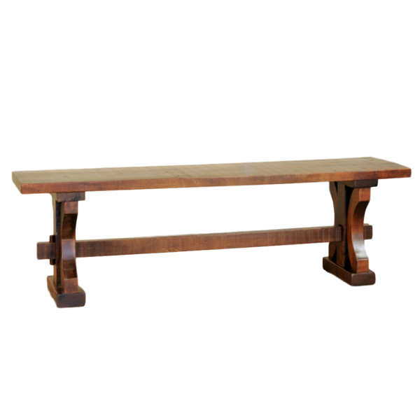 solid rustic wood carlisle bench for dining table in custom built lengths