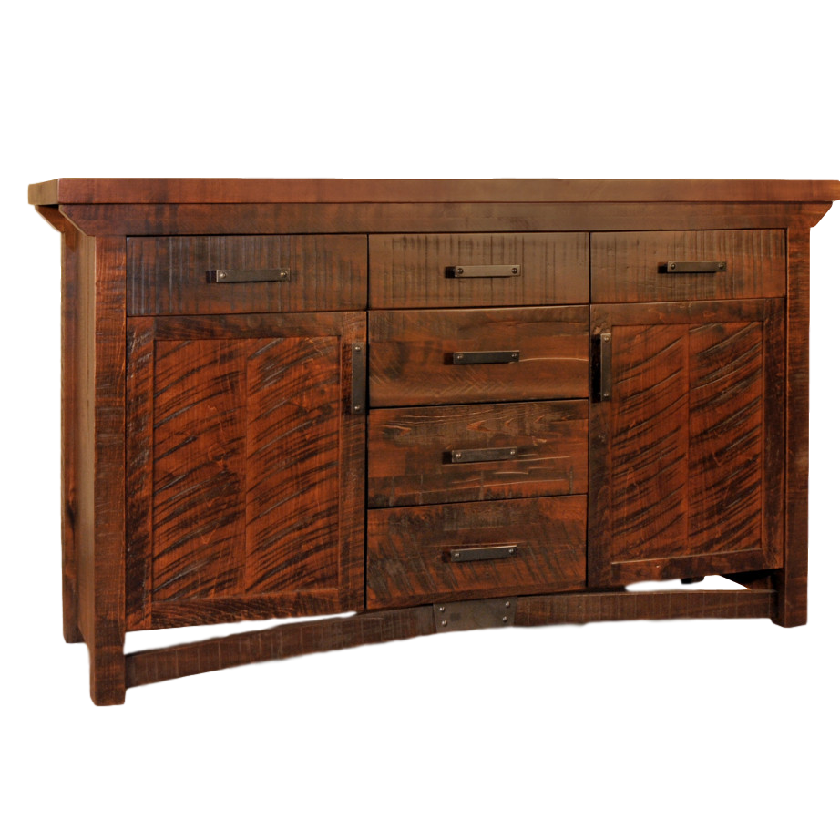 Rustic carlisle sideboard home envy furnishings solid wood furniture store Wooden furniture canada