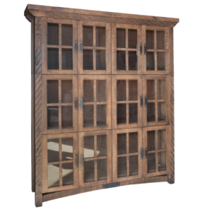 custom built in canada rustic carlisle wall cabinet in solid wood