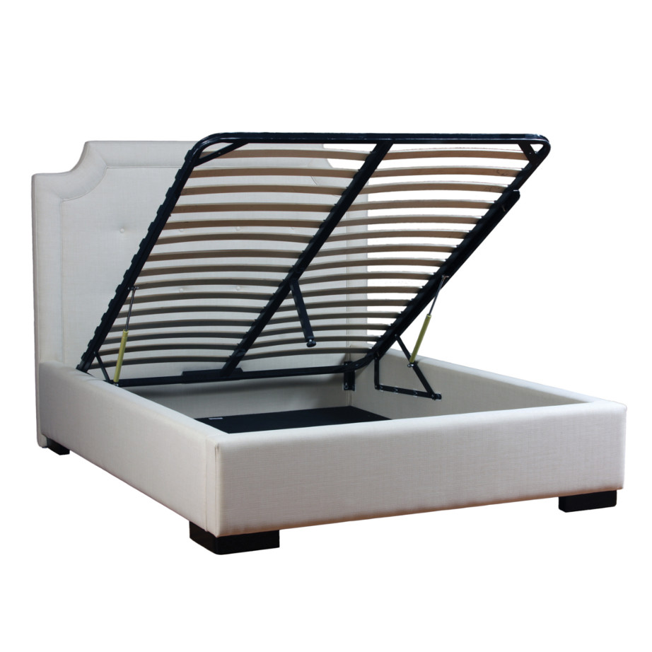 lift mattess storage for scarlett custom fabric bed