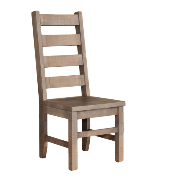 solid rustic maple sequaoia dining chair with ladderback design