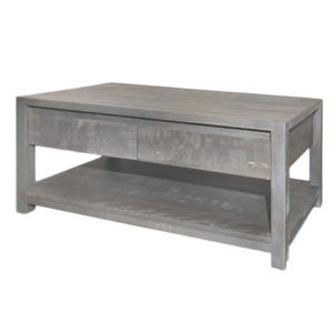 made in canada solid wood sequoia coffee table with storage