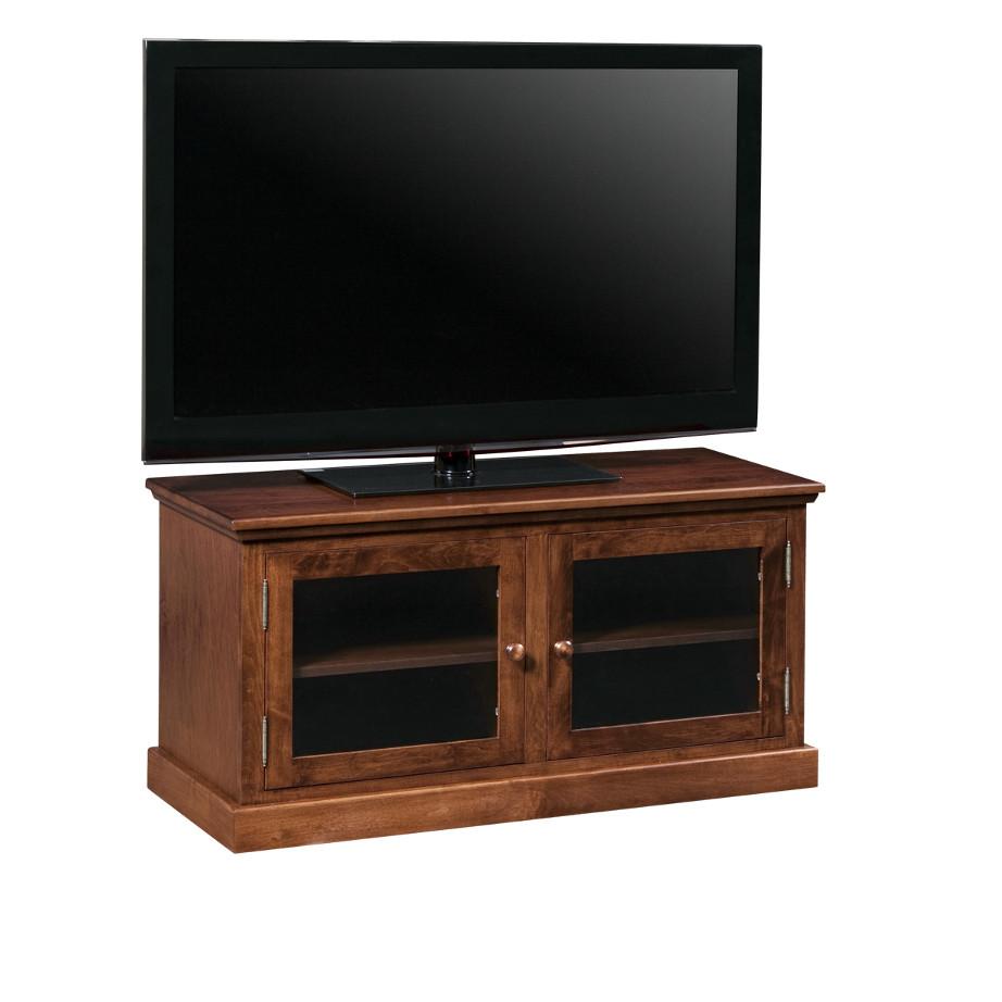 small scale condo size shaker tv console for smaller tv