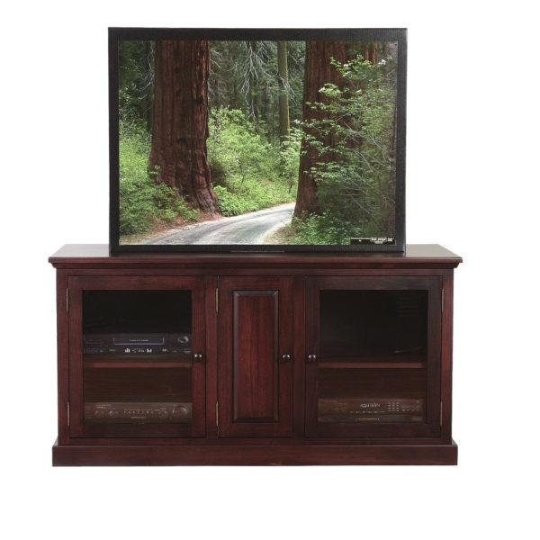 custom made in canada solid wood shaker tv console