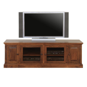 made in canada shaker tv console with glass doors