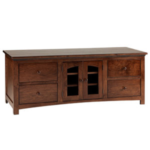 modern solid wood shaker arched door tv console