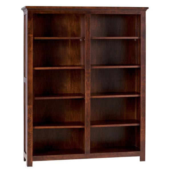 solid wood adjustable shelf shaker bookcase