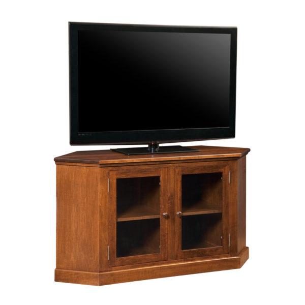 custom built for the corner shaker corner tv console cabinet
