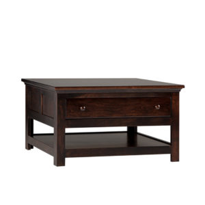 Shaker coffee table, square coffee table, coffee table, solid wood furniture, made in canada