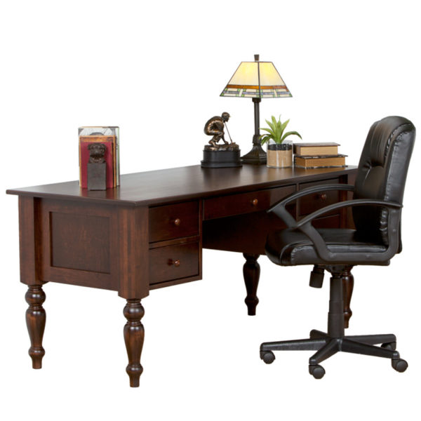 double pedestal shaker writing desk for home offices