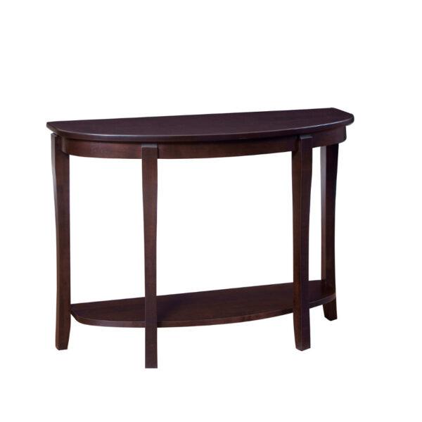 solid wood soho half moon sofa table
