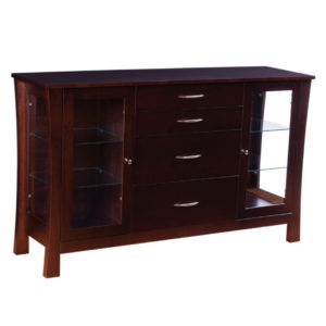 Soho Display Sideboard, Dining room, dining room furniture, occasional, occasional furniture, solid wood, solid oak, solid maple, custom, custom furniture, storage, storage ideas, dining cabinet, sideboard