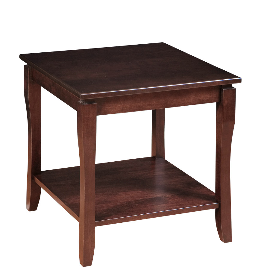 hand crafted in canada solid wood soho large square end table