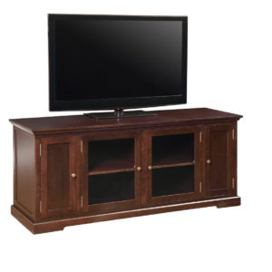 canadian made stanford tv console in solid wood