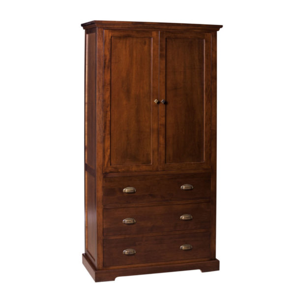 Stanford Armoire, bedroom, bedroom furniture, occasional, occasional furniture, solid wood, solid oak, solid maple, custom, custom furniture, storage, storage ideas, armoire, made in Canada, Canadian made