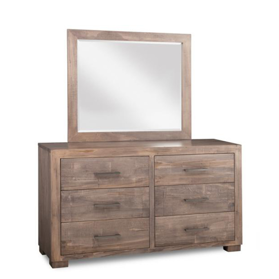 Bedroom, Dressers, cabinet, cherry, contemporary, custom chest, distressed, drawers, made in canada, made to order, maple, master bedroom, modern, oak, solid wood, handstone, modern, rustic, straight lines, blocky, unique, modern, blocky, amish style furniture, contemporary, handmade, rustic, distressed, simple, customizable, Solid Rustic Maple, Steel City 6 Dr Dresser, Steel City
