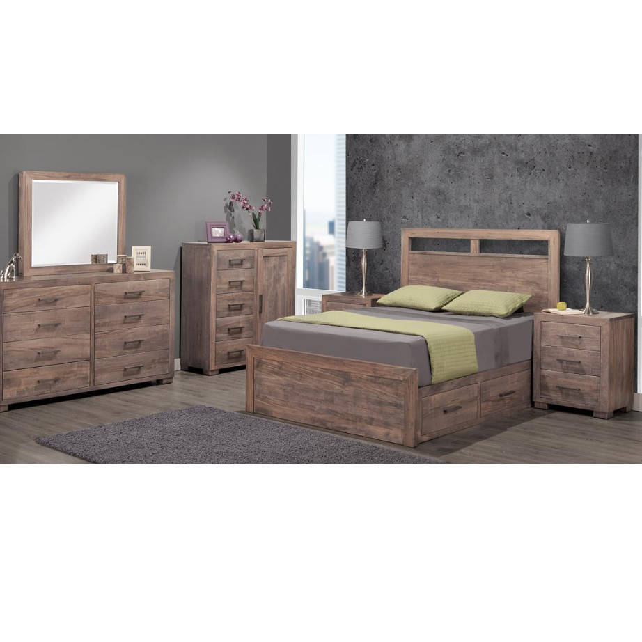 made in canada steel city bedroom suite with storage bed