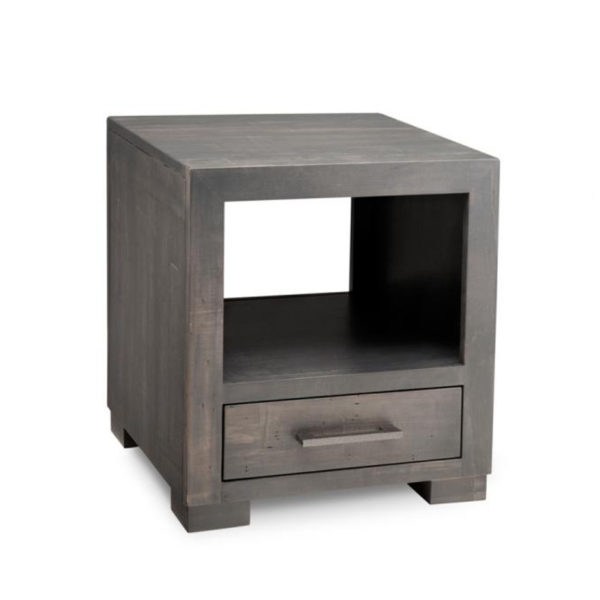 Living Room, Occasional, End Table, Accents, Accent Furniture, made in canada, maple, oak, rustic, side table, solid wood, living room ideas, simple, unique, custom, custom furniture, steel city end table