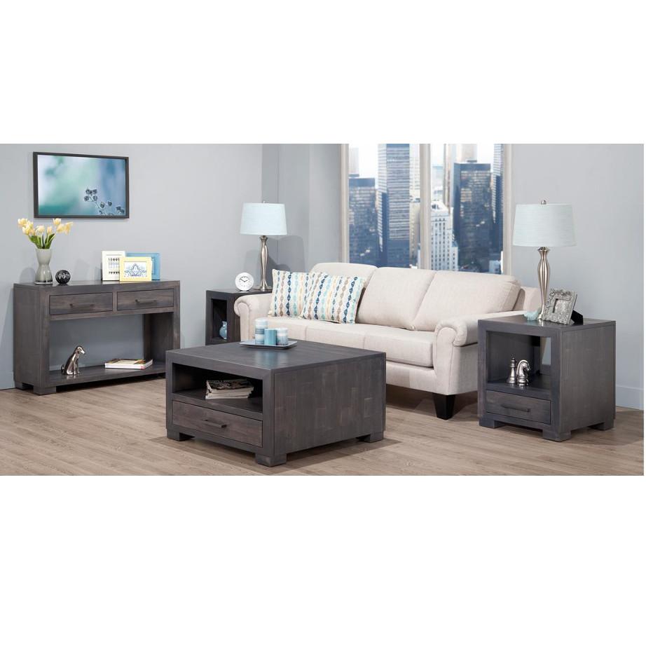 steel city solid wood living room set