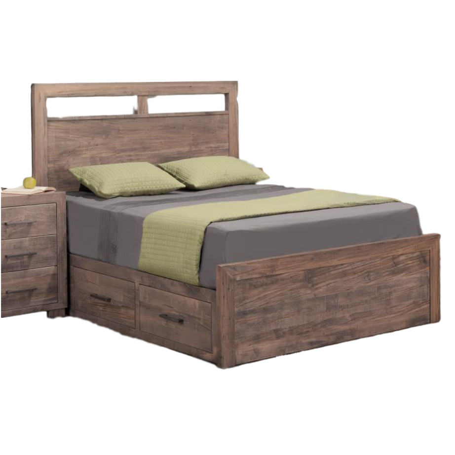 Steel city storage bed home envy furnishings solid wood for Home furniture beds
