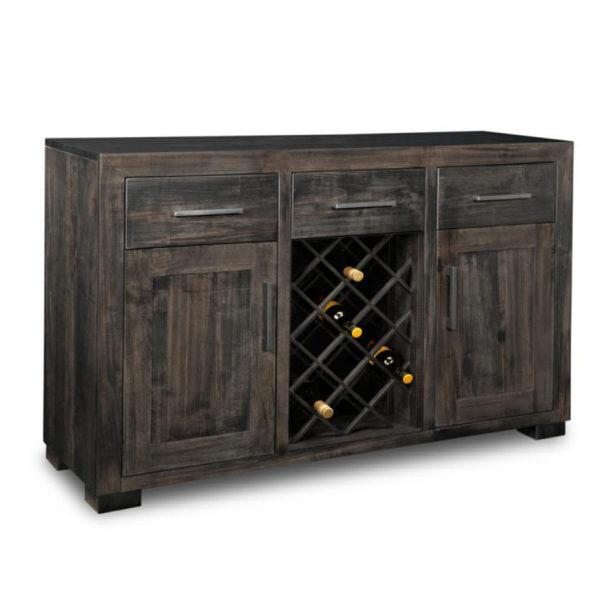 handstone solid wood steel city wine sideboard