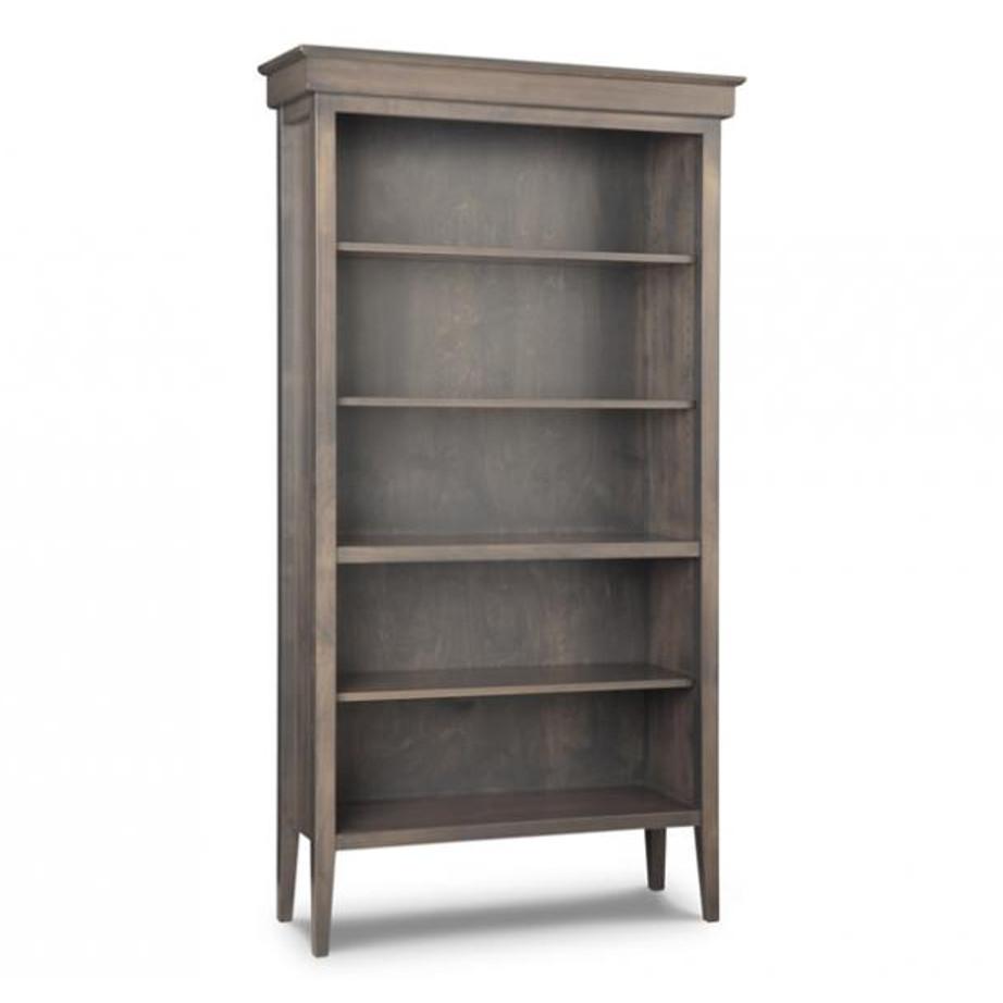 solid wood custom size stockholm bookcase with adjustable shelves