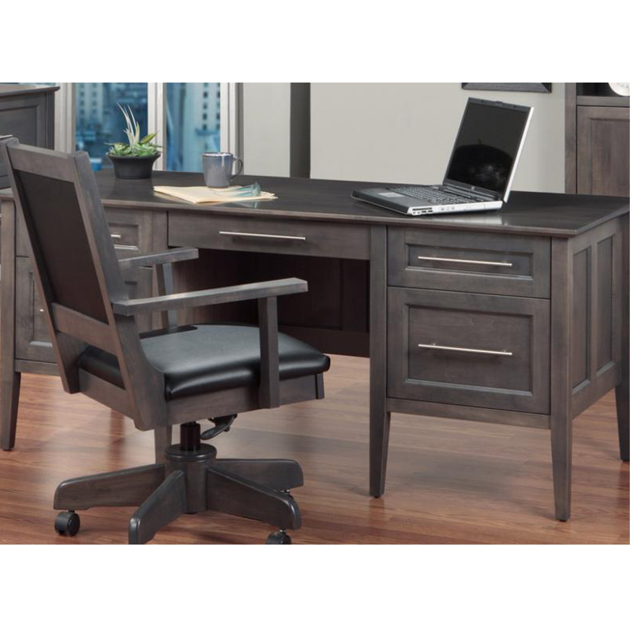 solid rustic wood stockholm desk for executive office