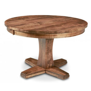 solid wood round stockholm dining table with pedestal base